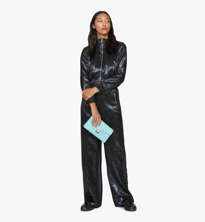 MCM Millie Crossbody-Tasche aus Leder mit Monogramm Blue MYZ9AME12H3001 Alternate View 4