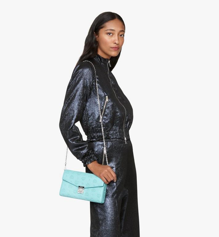 MCM Millie Crossbody-Tasche aus Leder mit Monogramm Blue MYZ9AME12H3001 Alternate View 5