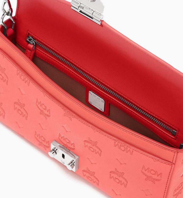MCM Millie Crossbody-Tasche aus Leder mit Monogramm Pink MYZ9AME12O3001 Alternate View 3