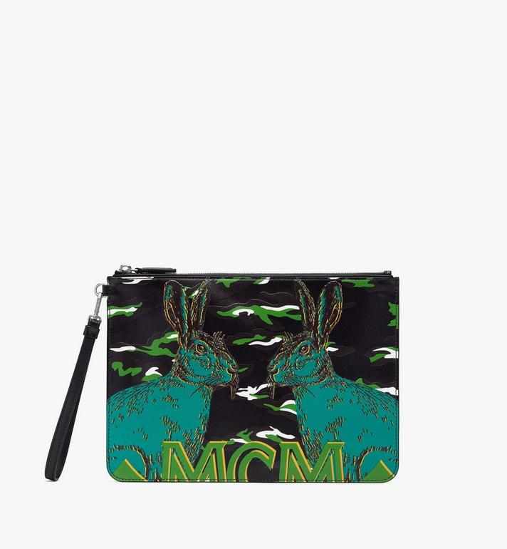 MCM Pop Rabbit Wristlet Zip Pouch Black MYZ9APS01BK001 Alternate View 1