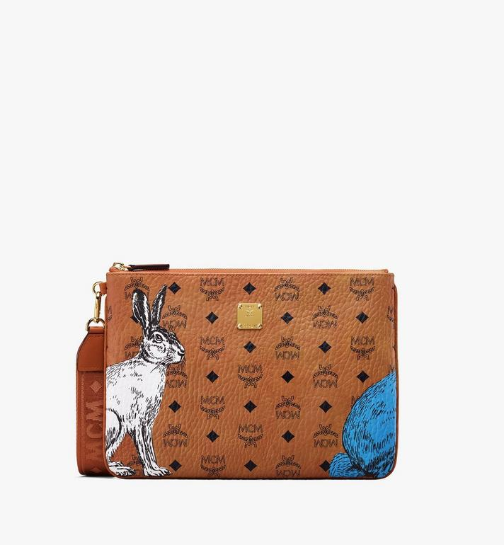 MCM Hide-and-Seek Wristlet Zip Pouch Alternate View