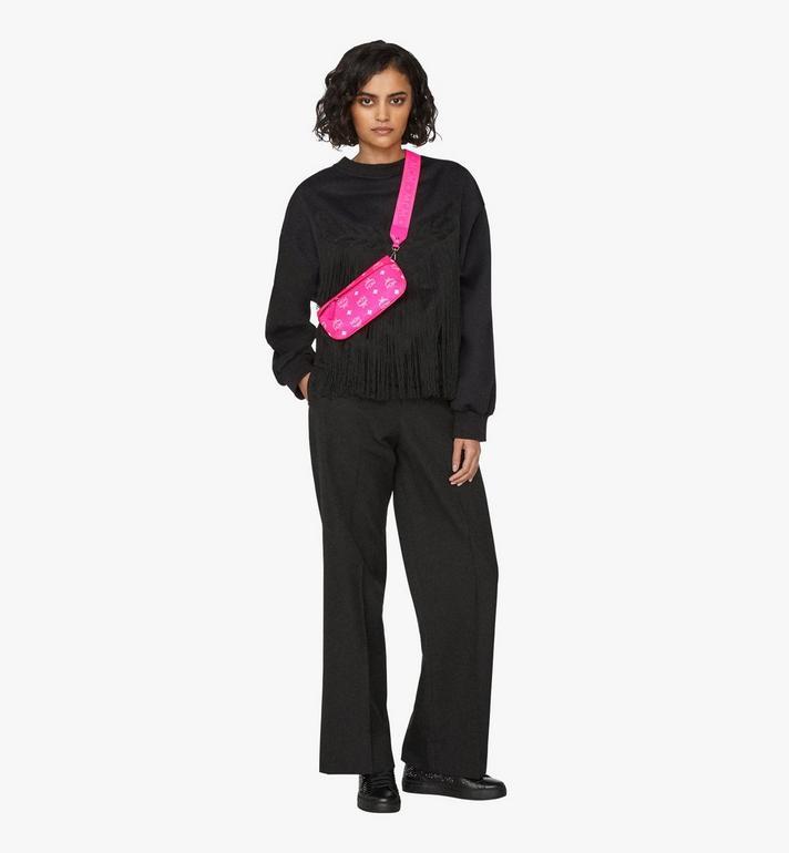 MCM Crossbody Bag in Visetos Pink MYZ9AVI33QP001 Alternate View 3