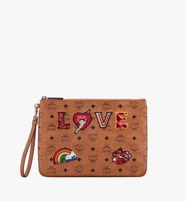 กระเป๋าขนาดเล็กติดซิป Love Patch Visetos