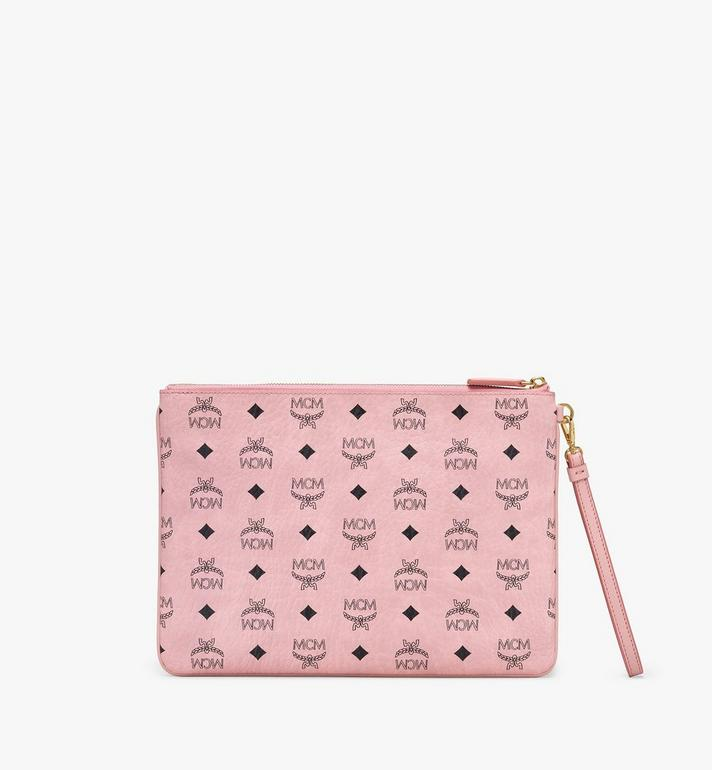 MCM Zip Pouch in Love Patch Visetos Pink MYZ9AVI64PZ001 Alternate View 2