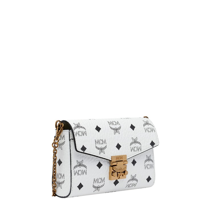 MCM Millie Flap Crossbody in Visetos White MYZ9SME04WT001 Alternate View 2
