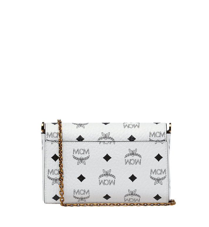MCM Millie Flap Crossbody in Visetos White MYZ9SME04WT001 Alternate View 4