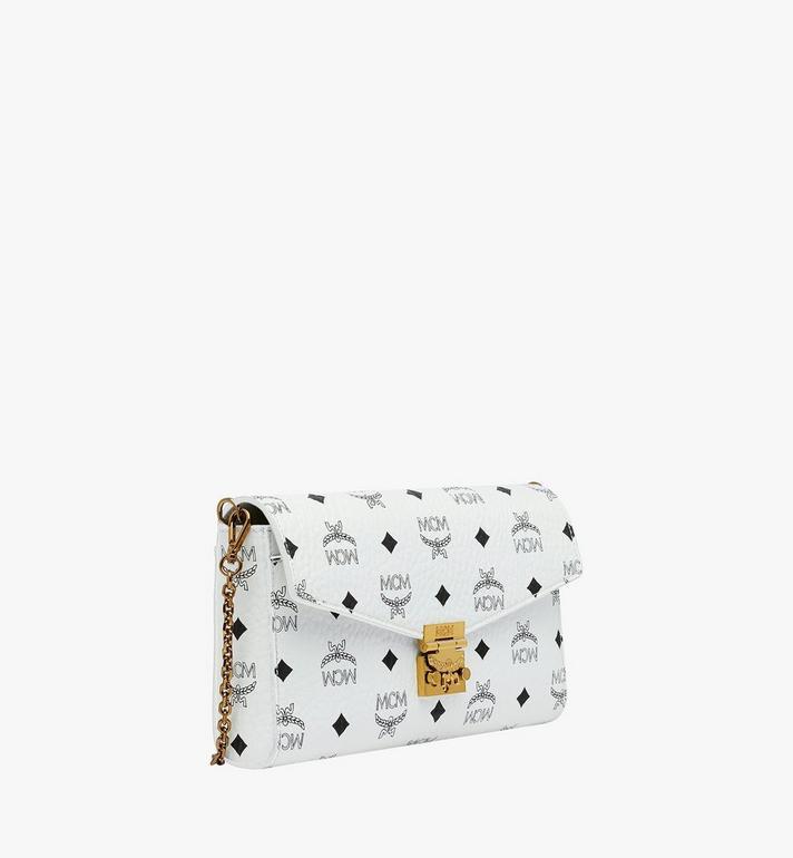 MCM Millie Flap Crossbody-Tasche in Visetos White MYZ9SME05WT001 Alternate View 2
