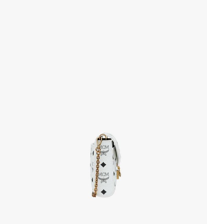 MCM Millie Flap Crossbody in Visetos White MYZ9SME05WT001 Alternate View 3