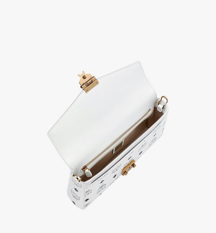 MCM Millie Flap Crossbody-Tasche in Visetos White MYZ9SME05WT001 Alternate View 5