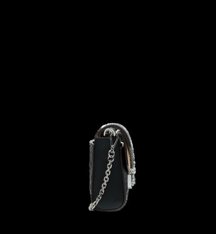 MCM Millie Flap Crossbody-Tasche aus Leder mit Monogramm Black MYZ9SME08BK001 Alternate View 3