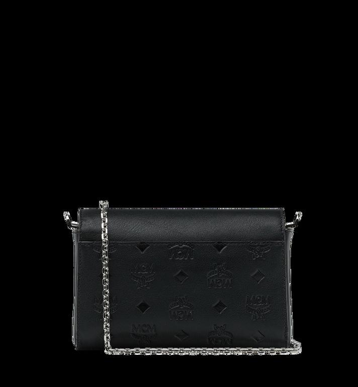 MCM Millie Flap Crossbody-Tasche aus Leder mit Monogramm Black MYZ9SME08BK001 Alternate View 4