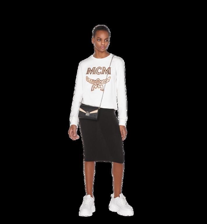 MCM Millie Flap Crossbody-Tasche aus Leder mit Monogramm Black MYZ9SME08BK001 Alternate View 6