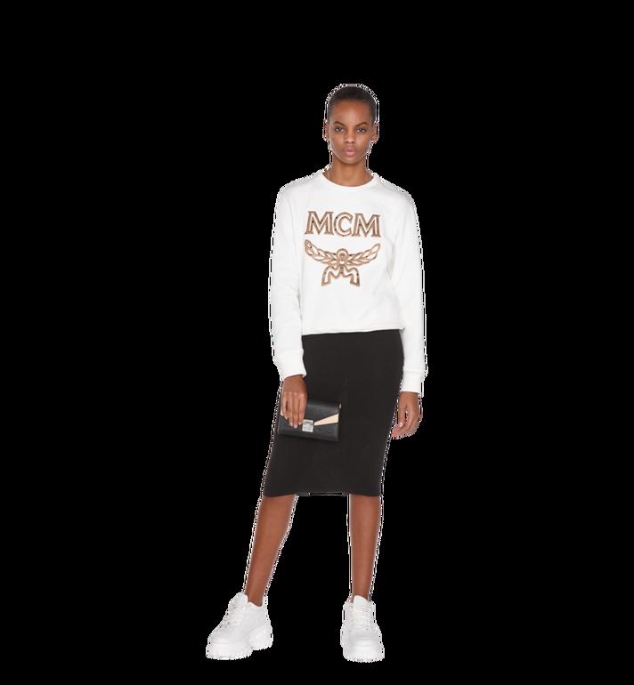 MCM Millie Flap Crossbody-Tasche aus Leder mit Monogramm Black MYZ9SME08BK001 Alternate View 7