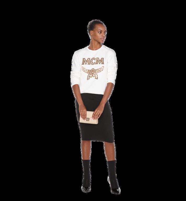 MCM Millie Flap Crossbody-Tasche aus Leder mit Monogramm Alternate View 7
