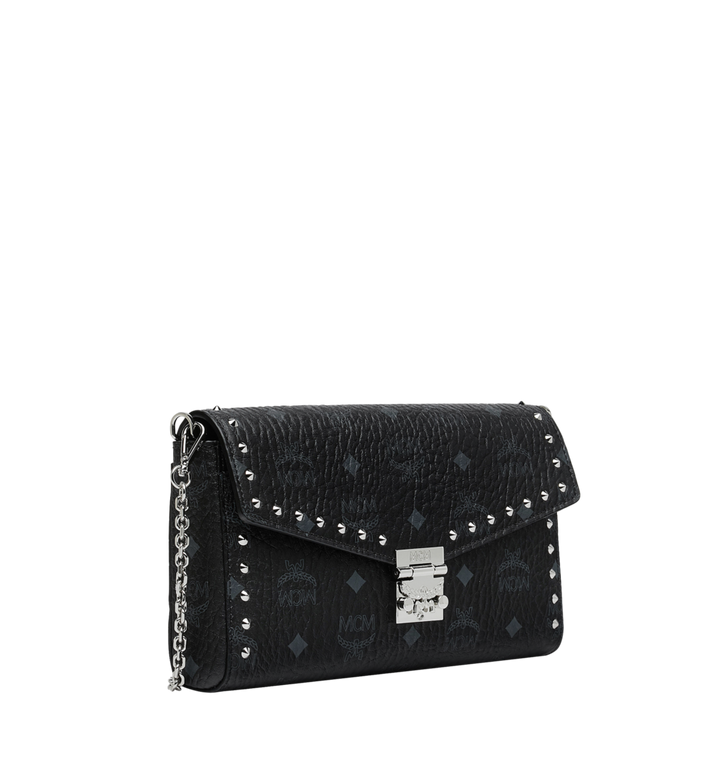 MCM Millie Flap Crossbody in Studded Outline Visetos Black MYZ9SME26BK001 Alternate View 2