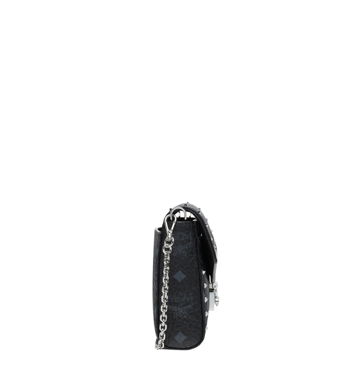 MCM Millie Flap Crossbody in Studded Outline Visetos Black MYZ9SME26BK001 Alternate View 3