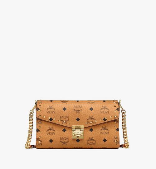 กระเป๋า Millie ครอสบอดี้แบบฝาพับด้านบน ปักหมุดรอบด้าน ลาย Visetos