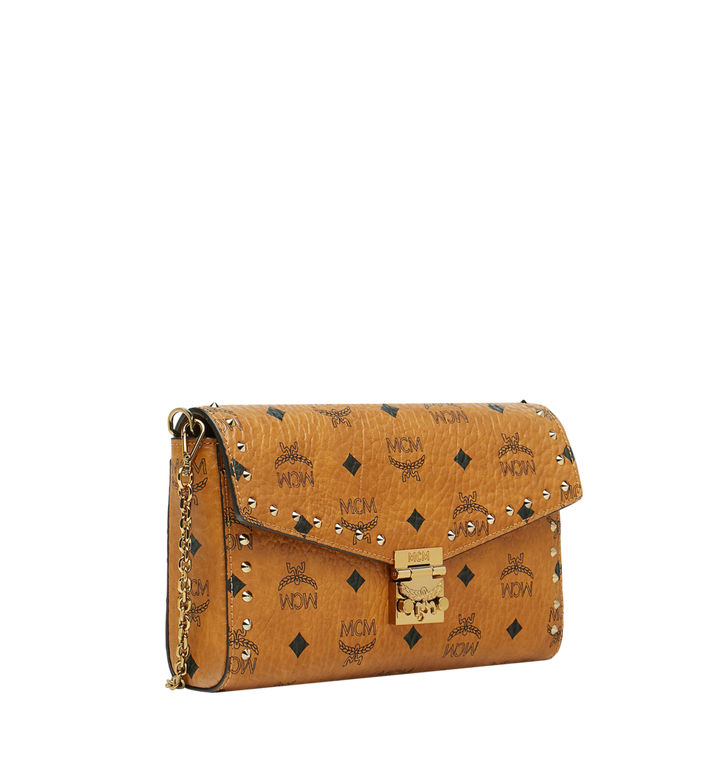 MCM Millie Flap Crossbody in Studded Outline Visetos Cognac MYZ9SME26CO001 Alternate View 2