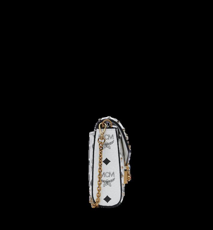 MCM Millie Flap Crossbody in Studded Outline Visetos White MYZ9SME26WT001 Alternate View 3