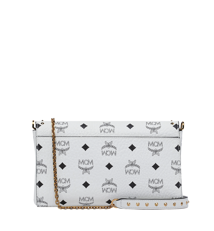 MCM Millie Flap Crossbody in Studded Outline Visetos White MYZ9SME26WT001 Alternate View 4