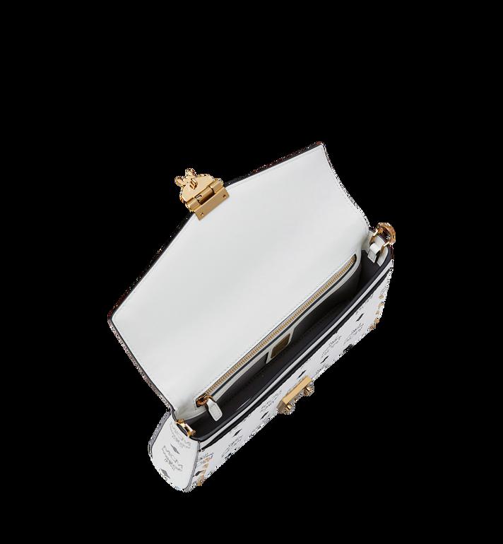 MCM Millie Flap Crossbody in Studded Outline Visetos White MYZ9SME26WT001 Alternate View 5