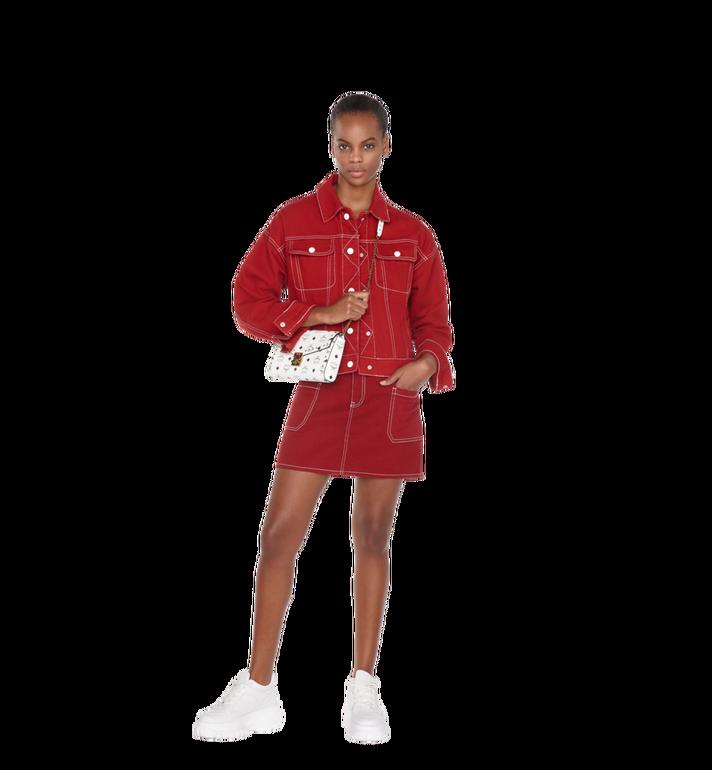 MCM Millie Flap Crossbody in Studded Outline Visetos White MYZ9SME26WT001 Alternate View 7