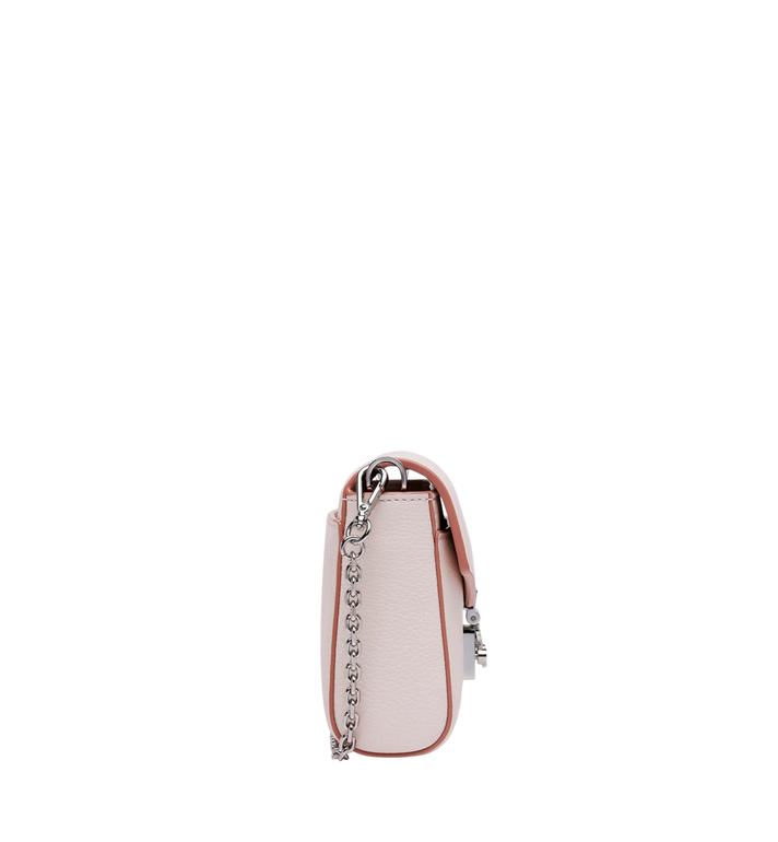 MCM Millie Flap Crossbody in Grained Leather Pink MYZ9SME54QC001 Alternate View 3