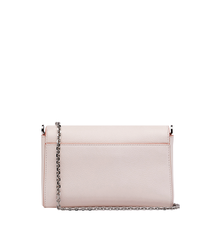 MCM Millie Flap Crossbody in Grained Leather Pink MYZ9SME54QC001 Alternate View 4