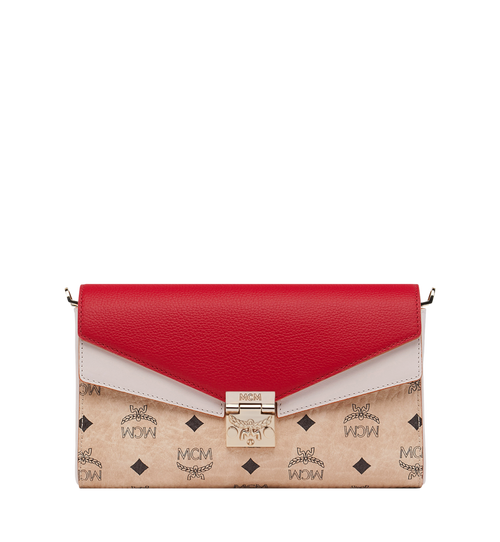 Millie Flap Crossbody in Visetos Leather Block