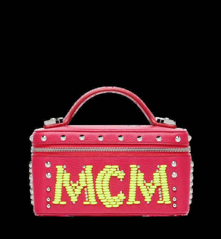 MCM Rockstar Vanity Case in Neon Stud Leather Alternate View