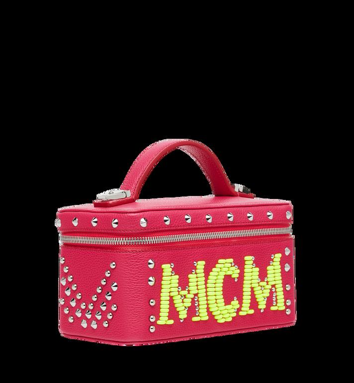 MCM Rockstar Vanity Case in Neon Stud Leather Alternate View 2