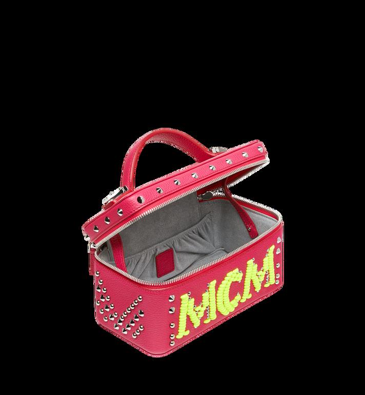 MCM Rockstar Vanity Case in Neon Stud Leather Alternate View 5