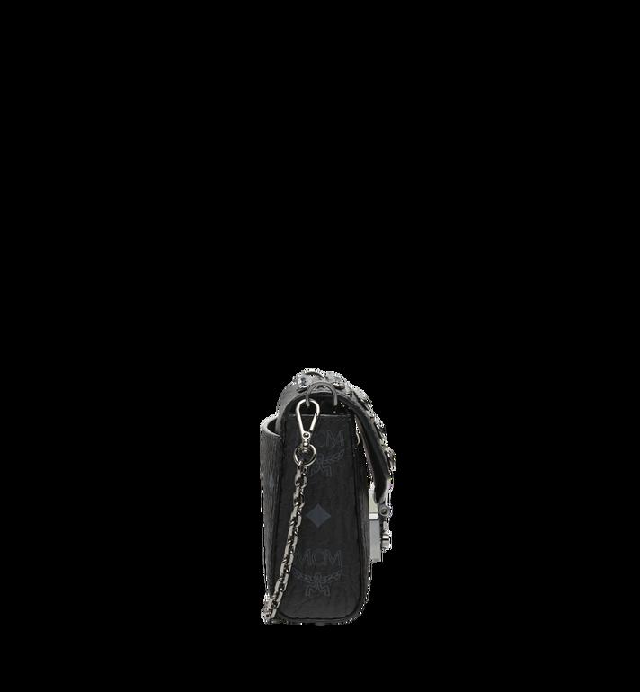 MCM Diamond Visetos Flap Crossbody-Tasche Black MYZ9SVI12BK001 Alternate View 3