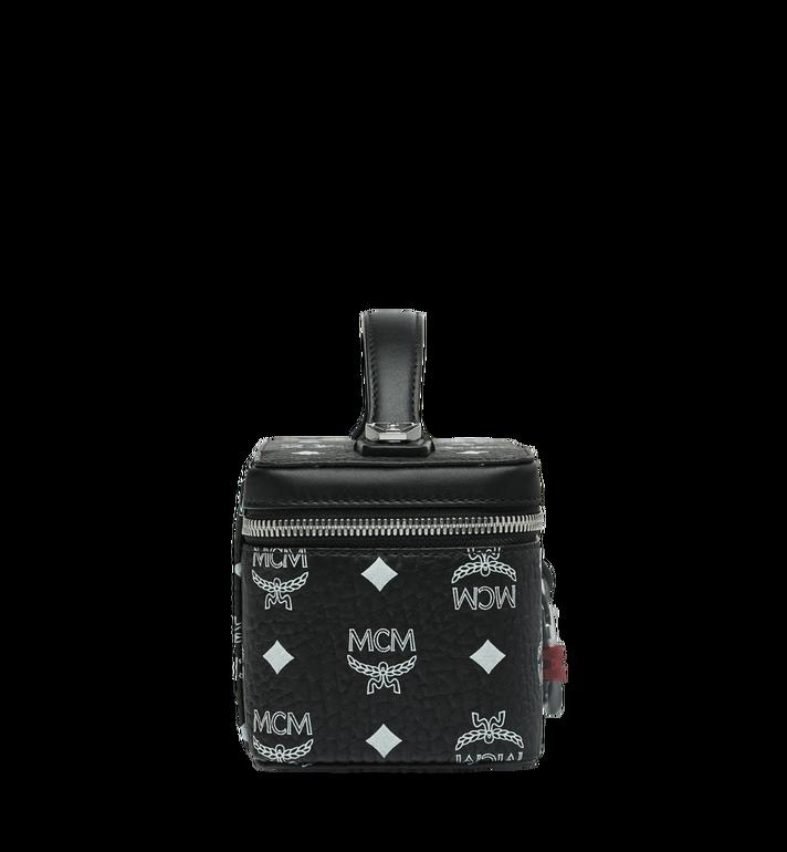 MCM Rockstar Vanity Case in White Logo Visetos Black MYZ9SWA01BV001 Alternate View 3