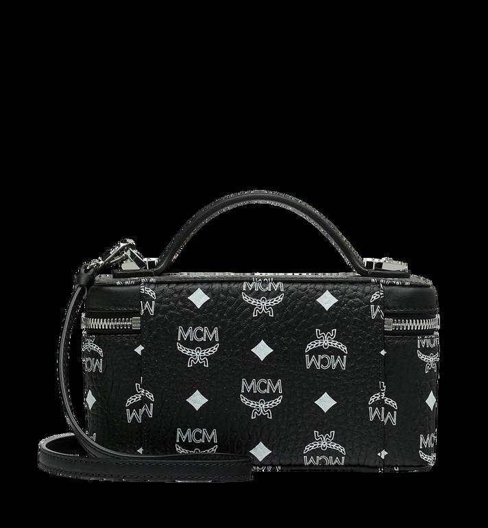 MCM Rockstar Vanity Case in White Logo Visetos Black MYZ9SWA01BV001 Alternate View 4
