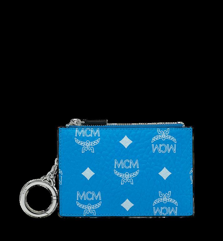 MCM Key Pouch in White Logo Visetos Alternate View