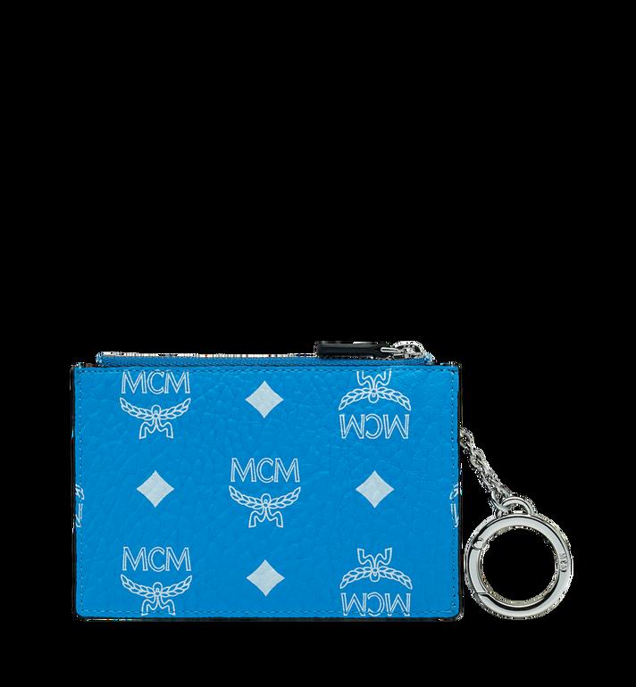 MCM Pochette avec porte-clés en Visetos à logo blanc Alternate View 3