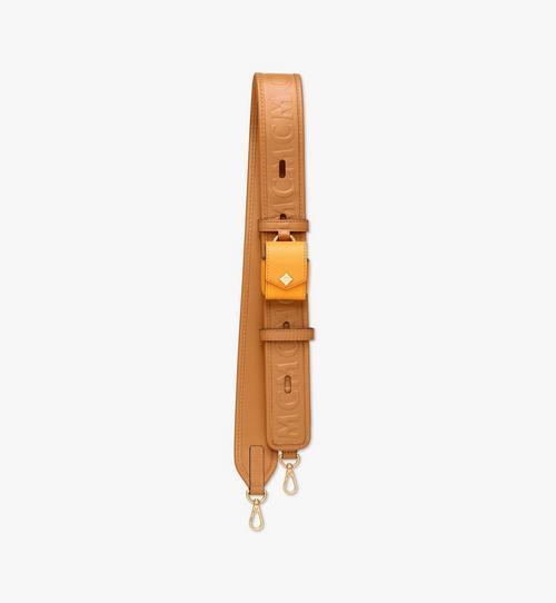 Bandoulière en cuir monogrammé MCM Collection avec étui pour AirPods