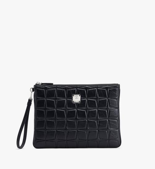 Patricia絎縫皮革腕帶荷包