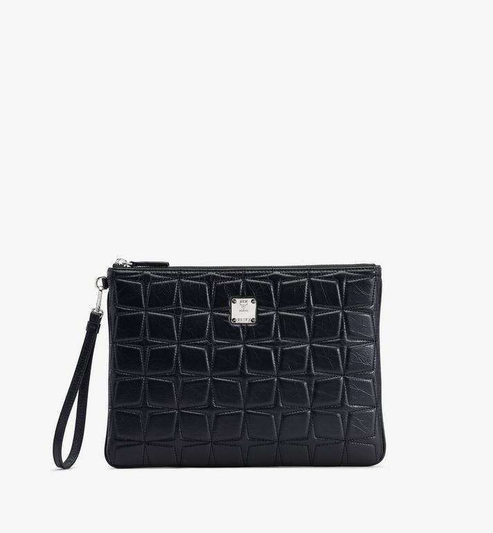 MCM Patricia絎縫皮革腕帶荷包 Black MYZASPA01BK001 Alternate View 1
