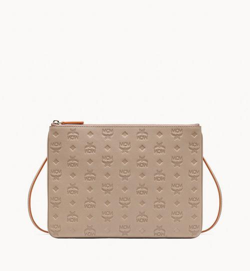 Crossbody-Pouch aus Leder mit Monogramm