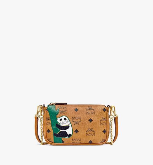 กระเป๋าครอสบอดี้เพาช์ MCM Zoo Panda ลาย Visetos