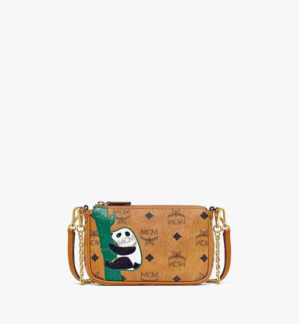MCM Zoo Panda Crossbody Pouch in Visetos 1