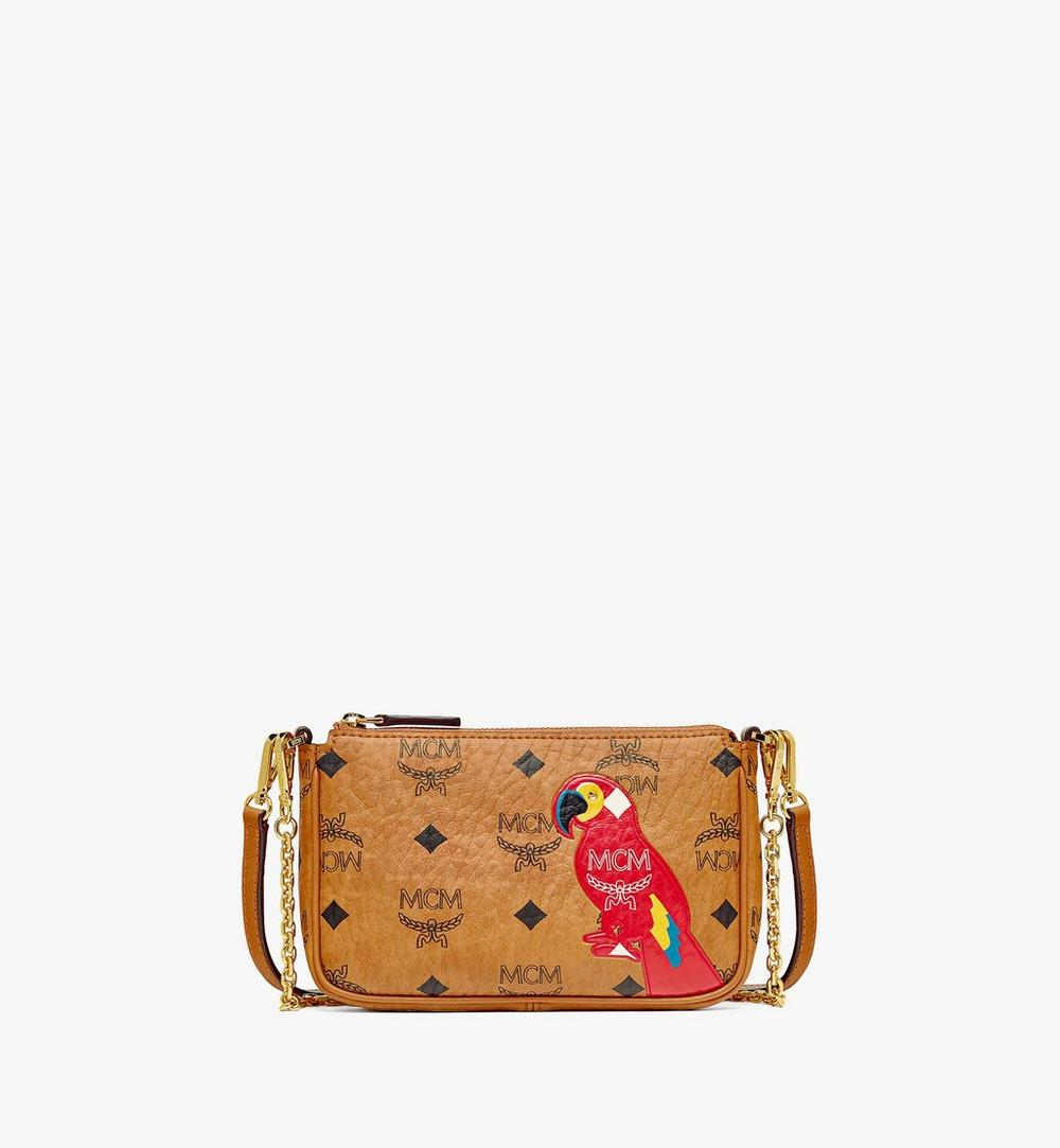 MCM Zoo Parrot Crossbody Pouch in Visetos 1