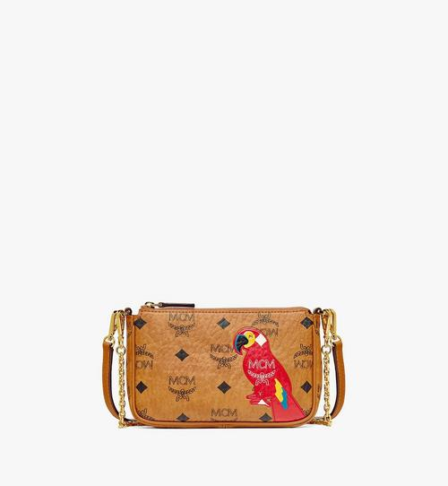MCM Zoo Parrot Crossbody Pouch in Visetos