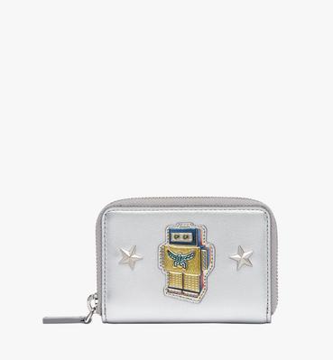 机器人系列全拉链皮革卡包