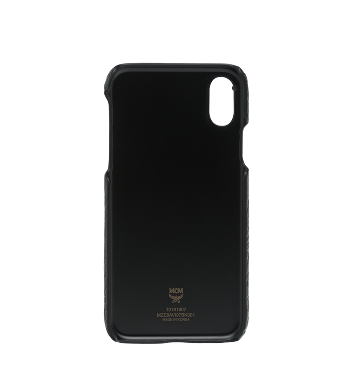 MCM iPhone X Case in Visetos Original Black MZE8AVI97BK001 Alternate View 3
