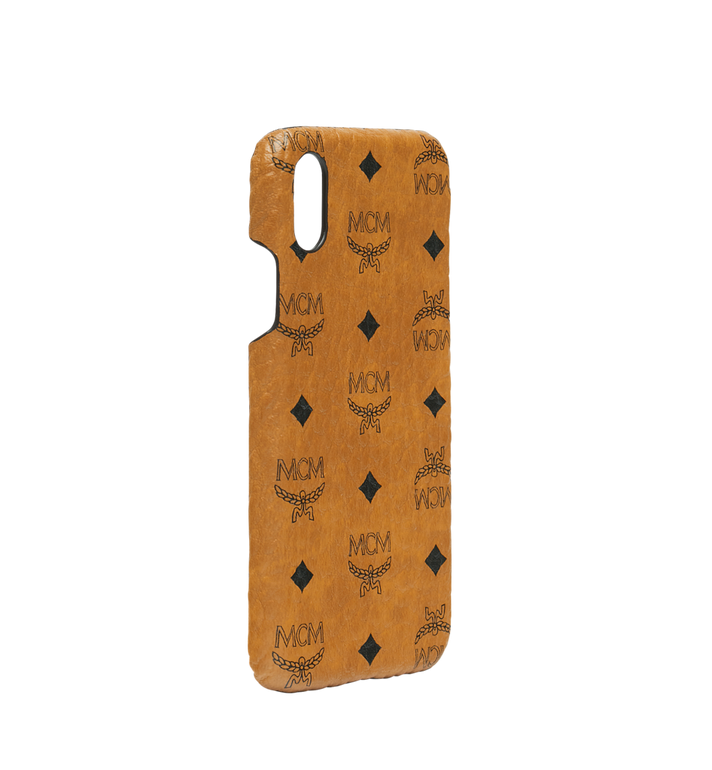 MCM iPhone X Case in Visetos Original Cognac MZE8AVI97CO001 Alternate View 2