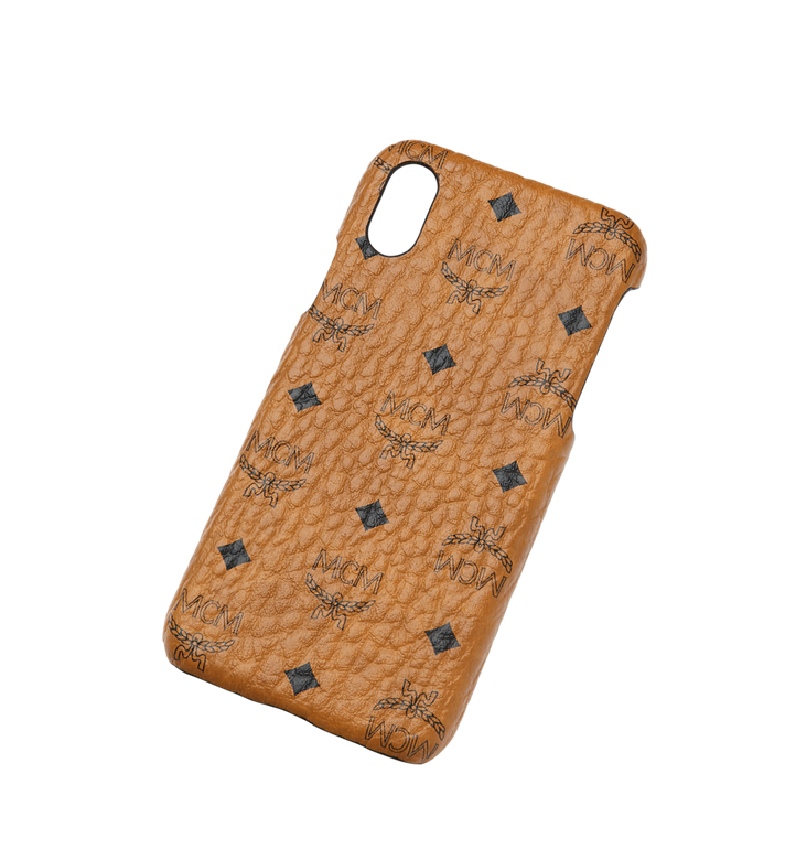 MCM iPhone X Case in Visetos Original Cognac MZE8AVI97CO001 Alternate View 4