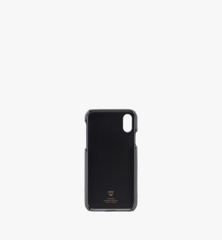 MCM Tivitat iPhone X/XS Case in Monogram Leather Grey MZE9ABT26FK001 Alternate View 2